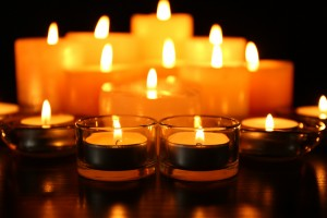 If a candle falls over, or if something is left too close to the flame, a fire starts almost instantly