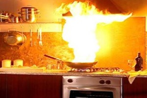 Many kitchen fires start because the homeowner left food cooking unattended.